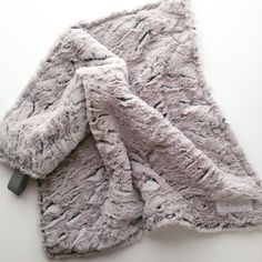 Minky Security blanket Grey Minky Baby Blanket by SandHCreate