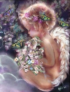 Angels around us, angels beside us, angels within us. Angels are watching over you when times are good or stressed. Their wings wrap gently around you, whispering you are loved and blessed. - Angel Blessing