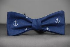 Anchors on Navy Blue Bow tie by PinchAndPull on Etsy, $22.50