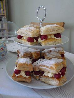 Vanilla & Raspberry Mille Feuille - yummy!!