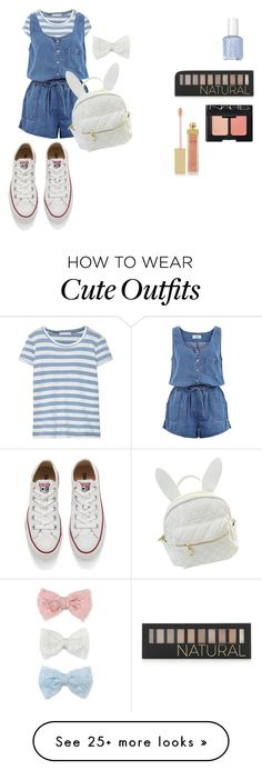 """""""Kawaii Blue Summer Outfit"""" by tiduu on Polyvore featuring Kain, New Look, Converse, cutekawaii, Forever 21, NARS Cosmetics, AERIN and Decree"""