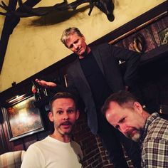 The Lord of the Rings: Dominic Monaghan, Viggo Mortensen, and Billy Boyd Aragorn Lotr, Tolkien Hobbit, O Hobbit, Legolas, Tolkien Books, Billy Boyd, Lotr Cast, Captain Fantastic, The Hobbit Movies
