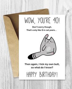 Anniversary Printable Cards Amusing Printable Birthday Cards Treat Yo Self Funny От Miumicatprintables .