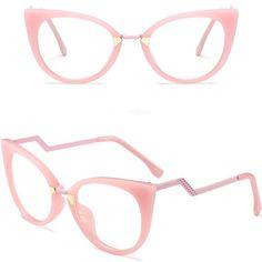 4c583fb1c2 Eyewear - Ladies Sexy Cat Eye Frames Brand Designer Optical Eye Glasse – Kaaum  Cat Eye