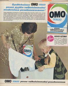 Marimekko dress in washing powder ad, 1967