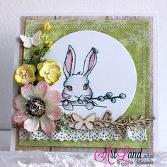 Easter card for Agateria.  Kartka wielkanocna, kolorowanie markerami copic Marta Zaborowska, www.artlandskle.pl