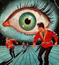 It's his birthday, so I'm posting Ed Valigursky's work all day! Here's his trippy cover art for Philip K. Dick's 'Eye in the Sky' Arte Sci Fi, Sci Fi Art, Cover Art, Books Art, Science Fiction Kunst, Sci Fi Kunst, Pub Vintage, Arte Horror, Eye Art