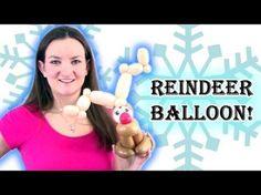 Easy and FAST Reindeer Balloon Animal - YouTube Emoji Christmas, Christmas Balloons, Christmas Party Decorations, Christmas Cupcakes, Christmas Holidays, Christmas Crafts, Reindeer Christmas, Balloon Crafts, Balloon Decorations