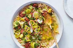 Instant Pot Brothy Farro with Sausage and Leeks recipe   Epicurious.com