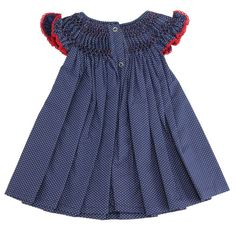 Vestido casinha de abelha poá marinho com vermelho - 9 a 12 meses Ideias Fashion, Angel, Summer Dresses, Red And Blue, Red Dress Outfit, Thin Arms, Bee House, Ladies Outfits, Navy Blue