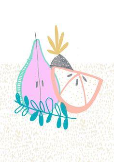 Tutti Fruit Pear illustration  Amyislaillustration