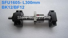 77.00$  Buy now - http://alicym.worldwells.pw/go.php?t=1916559925 - SFU1605 Ballscrew- L300mm end machined+  BK/BF12 Support CNC 77.00$