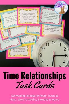 These telling time task cards have word problems that would make a great center activity for third grade!