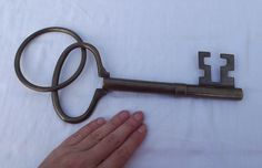 Vintage, Large Key, Home Decor, Advertising Sign, Locksmith's Sign, Gift, Bronze, Key, Steampunk, Steampunk Supplies, Handmade by DecadentAndFabulous on Etsy