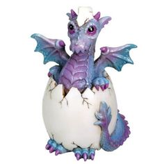 Bindy Dragon Hatchling. www.teeliesfairygarden.com . . . This gorgeous bindy dragon hatchling will bring good luck to your garden! The fairies are excited to see him! #dragons