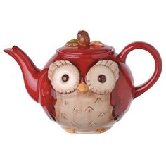 Whimsical Owl Teapot! I have this and LOVE it!!! <3