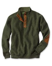 Head out in seasonal style with this wool pullover sweater for men.