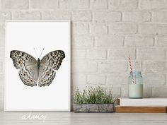 Yellow Dots Butterfly, Instant Download Large Modern Minimalist Nursery Animals Wall Art, Butterfly Photography Prints, Butterflies Decor by ahmoy on Etsy