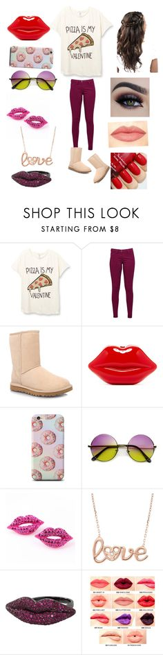 """""""My Valentine"""" by itzmorganr ❤ liked on Polyvore featuring moda, Great Plains, UGG Australia, Wendy Yue, NYX, women's clothing, women, female, woman i misses"""