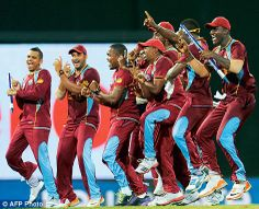 West Indies cricketers celebrations of gangnam style after T20 world cup win