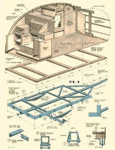 Free Teardrop Trailer Plans | ... Teardrop Trailer Campers Chuck Wagon Plans: Compact Teardrop Trailer