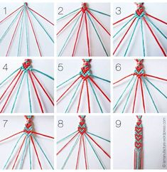 Here's a heart friendship bracelet pattern not too difficult for older kids who love to make bracelets!