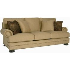 Bernhardt Foster Stationary Sofa with Nailhead Trim - Belfort Furniture - Sofa Washington DC, Northern Virginia, Maryland and Fairfax VA