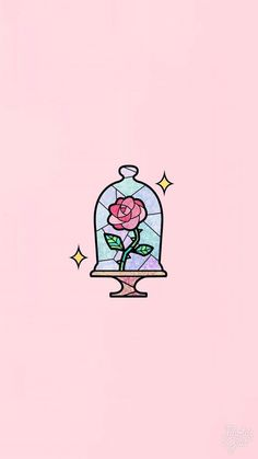 Wallpaper rose rosa - Nachtliebe - Beauty & the Beast - Wallpaper Cute Wallpaper Backgrounds, Cute Cartoon Wallpapers, Wallpaper Iphone Cute, Aesthetic Iphone Wallpaper, Wallpaper Quotes, Beauty And The Beast Wallpaper Iphone, Wallpaper Wallpapers, Nike Tumblr Wallpapers, Iphone Wallpaper Illustration
