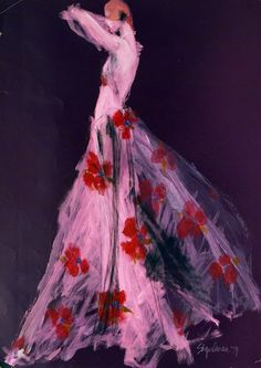 """illustration by Steven Stipelman, 1974.  As seen at the """"Lure of Beauty"""" exhibit of fashion photography and illustrations at the Sharjah ArtMuseum UAE"""