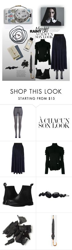 """""""midnight rain"""" by gabrielleleroy ❤ liked on Polyvore featuring Sonia Rykiel, Dsquared2, Dr. Martens, Witchery, Ted Baker, rainyday and polyvoreeditorial"""
