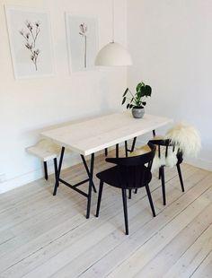 home decor art Zen Home Decor, Home Decor Kitchen, Home Decor Styles, Dining Room Inspiration, Home Decor Inspiration, Diy Esstisch, Diy Dining Table, Ben, Iron Furniture