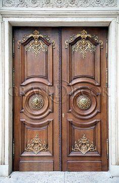 House Main Door Design, Wooden Front Door Design, Double Door Design, Wooden Doors, Medieval Door, Indian Doors, Cool Doors, Unique Doors, Classic Doors