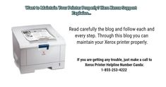 Want to Maintain Your Printer Properly? Here Xerox Support Explains… - xeroxprintersupportca's diary S Diary, Washing Machine, Printer, Home Appliances, Canada, Teaching, Number, How To Make, Blog
