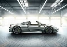 #Porsche #918Spyder: The monocoque and unit carrier architecture of the 918 Spyder as well as its outer skin are made from carbon-fibre reinforced plastic. Learn more: http://link.porsche.com/918?pc=918XXPINGA Combined fuel consumption in accordance with EU 5: 3.3-3.0 l/100 km, CO2 emissions 79-70 g/km. Electricity consumption 12.5-13.0 kWh/100 km.