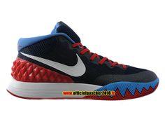 low priced 1e37a a6d6f Officiel Nike Kyrie 1 iD Chaussures Nike Basket-ball Pas Cher Pour Homme  Noir - Rouge - Blanc - Bleu