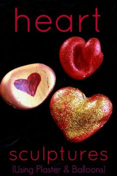 Dollar Store Crafts » Blog Archive » Make Plaster Heart Sculptures