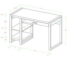 Theodulus 1 Drawer Writing Desk & Reviews | AllModern