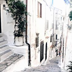 Sperlonga, Italy #seaside #italy #summer #riviera #architecture #white #town…