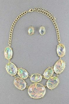 Jupiter Galaxy Gem Necklace Set