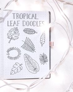 33 tropical inspired bullet journal spreads | My Inner Creative