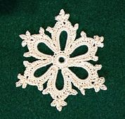 FREE PATTERN ~ Ravelry: Irish Crochet Snowflake pattern by Courtney Brock