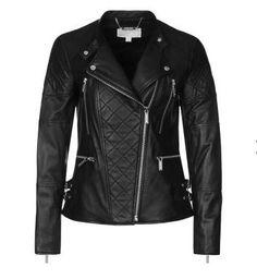 MICHAEL Michael Kors Veste en cuir noir prix promo Zalando 590.00 € TTC