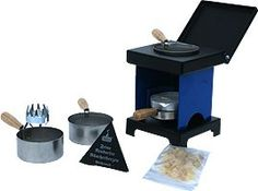 our small cooker, blue/black