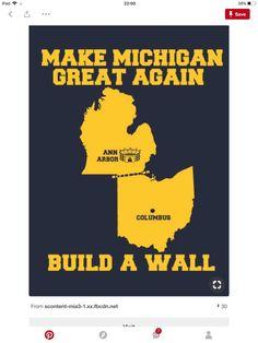 Make Michigan Great Again Build the Wall Shirt Michigan Wolverines Shirt
