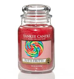 Forever young . . . the happy candy aroma of a cherry, raspberry, strawberry and lemon whirly pop.