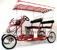 Surrey cycle, 4 wheel bicycle, four wheel bike, 4 person bike. WANT!!! Can you imagine taking your kids to the park, school, store in this? lol so fun!