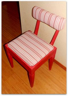 Cute Red/Pink Accent Chair by JsFourLeaf on Etsy