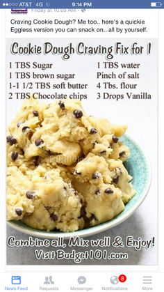 Cookie dough. Eatable