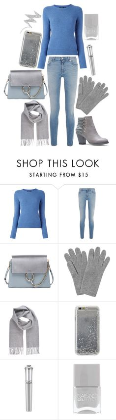 """silver and blue casual"" by mersunflower ❤ liked on Polyvore featuring Polo Ralph Lauren, Givenchy, Chloé, L.K.Bennett, Vivienne Westwood, Agent 18, Morgan Lane, NYX, Sweater and jeans"