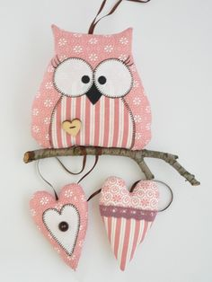 Owl Sewing, Baby Sewing, Cot Mobile, Air Dry Clay, Crochet Patterns, Easter, Christmas Ornaments, Decoupage, Knitting